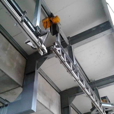 Conveyor bi-rail + walking beam