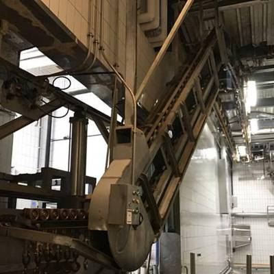 Bi-rail dressing conveyor