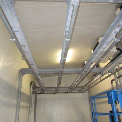 Cold store rail system
