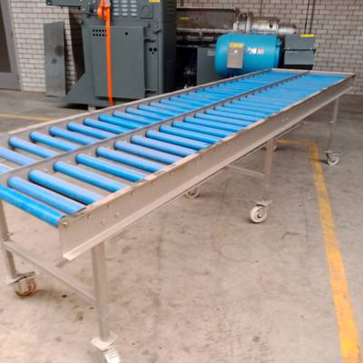 Roller conveyor belt